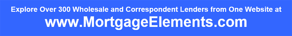 Mortgage Element's Free Database of Wholesale and Correspondent Mortgage Lenders